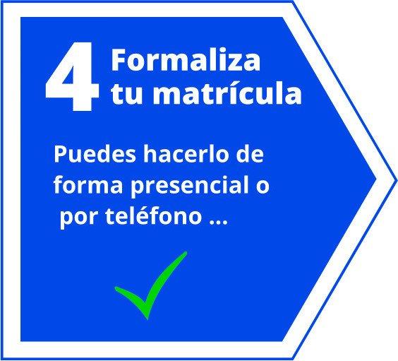Acepta la propuesta y te enviaremos instrucciones para completar la matrícula.